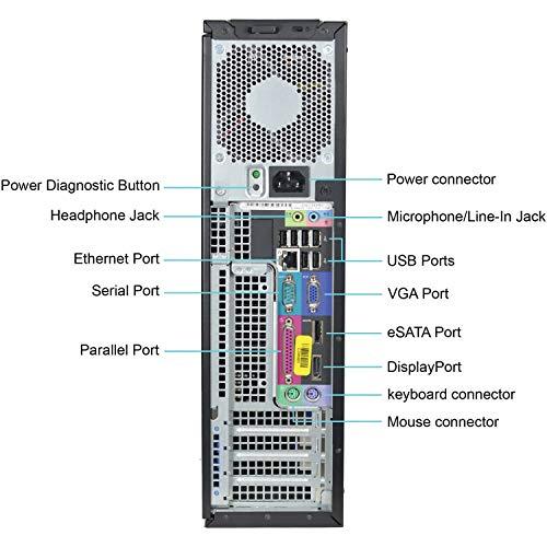 Dell Optiplex 980 Desktop Computer, i5-650 3.2GHz, 8GB, 1TB DVD, Windows 10 Pro (Renewed)