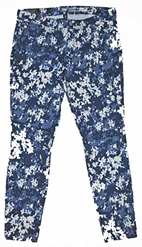 GAP Factory Womens Blue Packed Flower Skinny Skimmer Pants 12 ()