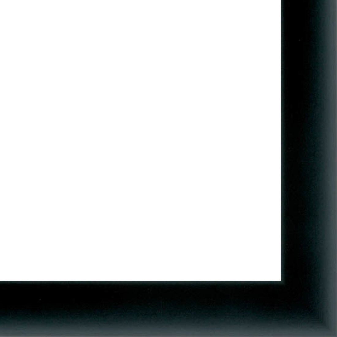 Picture Frame Moulding (Wood) 18ft bundle - Contemporary Black Finish - 0.75'' width - 3/8'' rabbet depth