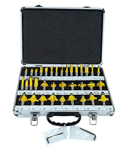 "35 ROUTER BIT SET - 1/2"" CARBIDE BITS KIT Half Inch"