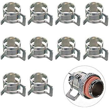 IronBuddy 10 Pack Hose Clips Clamps 10mm(3/8