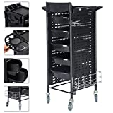 PROSPERLY U.S.Product 40'' Beauty Salon Spa Styling Station Trolley Equipment Rolling Storage Tray Cart