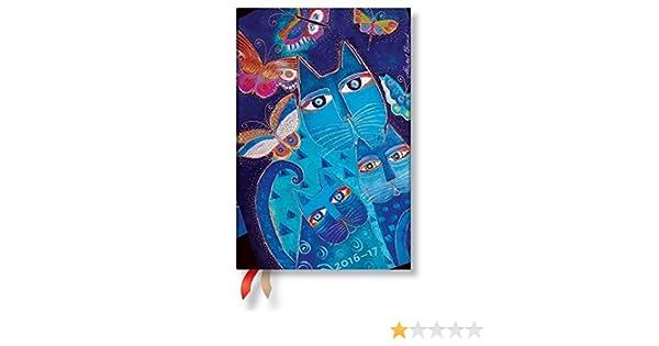 Paperblanks - Agenda gatos azules y mariposas - Mini 100 × 140 mm - 1 Semana en 2 páginas Horizontal: Amazon.es: Oficina y papelería