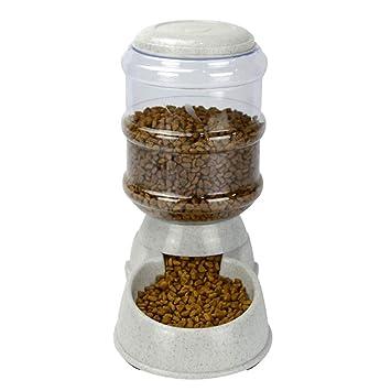 Kootk Alimentador automático de Alimentos para Mascotas con Bebedero para Perros Gatos Mascotas Animales, 3.8 L alimentador de Agua para alimentador de ...