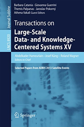 Download Transactions on Large-Scale Data- and Knowledge-Centered Systems XV: Selected Papers from ADBIS 2013 Satellite Events (Lecture Notes in Computer Science … Data- and Knowledge-Centered Systems) Pdf