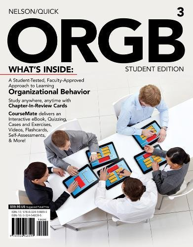 ORGB 3, Student Edition (with CourseMate and Transitions 2.0 Printed Access Card) (Engaging 4LTR Press Titles for Management) by Cengage Learning