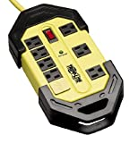 Tripp Lite 8 Outlet Industrial Safety Surge Protector Power Strip, 12ft Wrappable Cord, & $50K INSURANCE (TLM812SA)