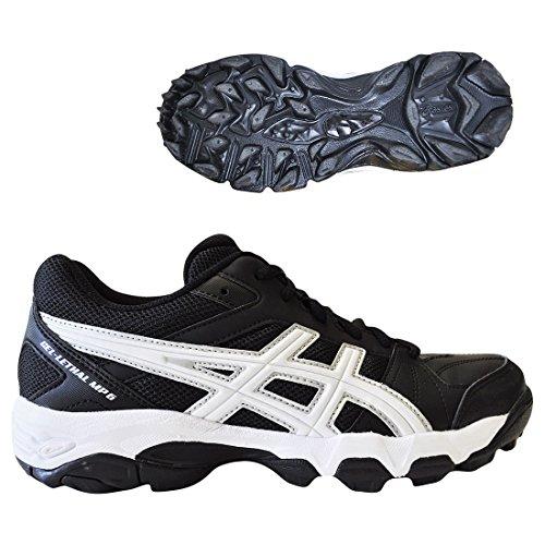 Asics Gel-Lethal MP6 Turf Shoe- Black/White - Women's SIZE 7