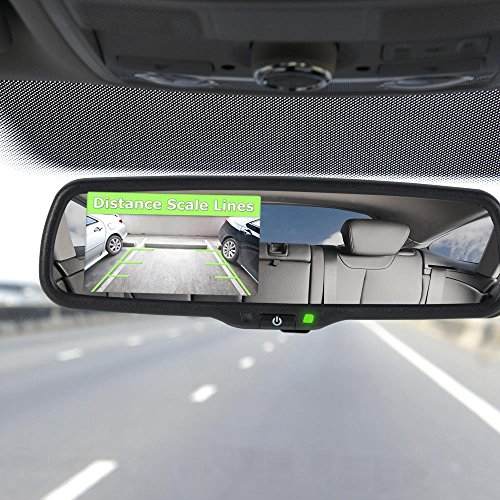 Pyle Backup Car Camera Rear View Mirror Screen Monitor System with Parking & Reverse Safety Distance Scale Lines, OEM Fit, Waterproof & Night Vision, 170° Angle Adjustable, 4.3'' LCD Display-(PLCM4550) by Pyle (Image #3)