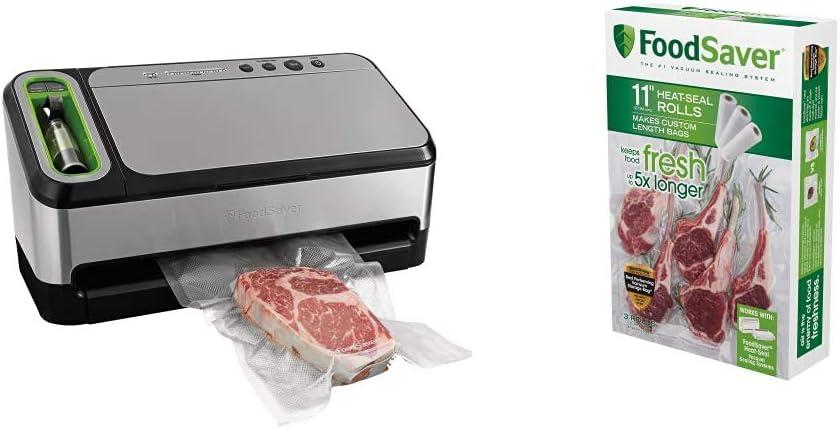 FoodSaver V4840 2-in-1 Vacuum Sealer Machine | Silver & 11