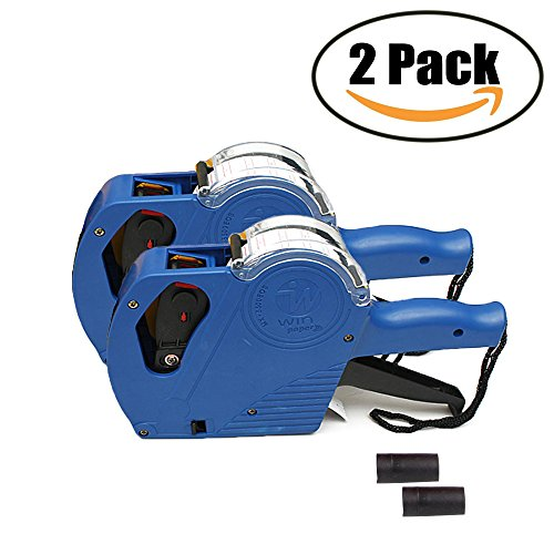 Yarachel MX5500 EOS Price Tag Gun Labeler Labeller - 2PCS 8 Digits Pricing Gun Labeler Kits Included Labels & Ink Refill (Blue)