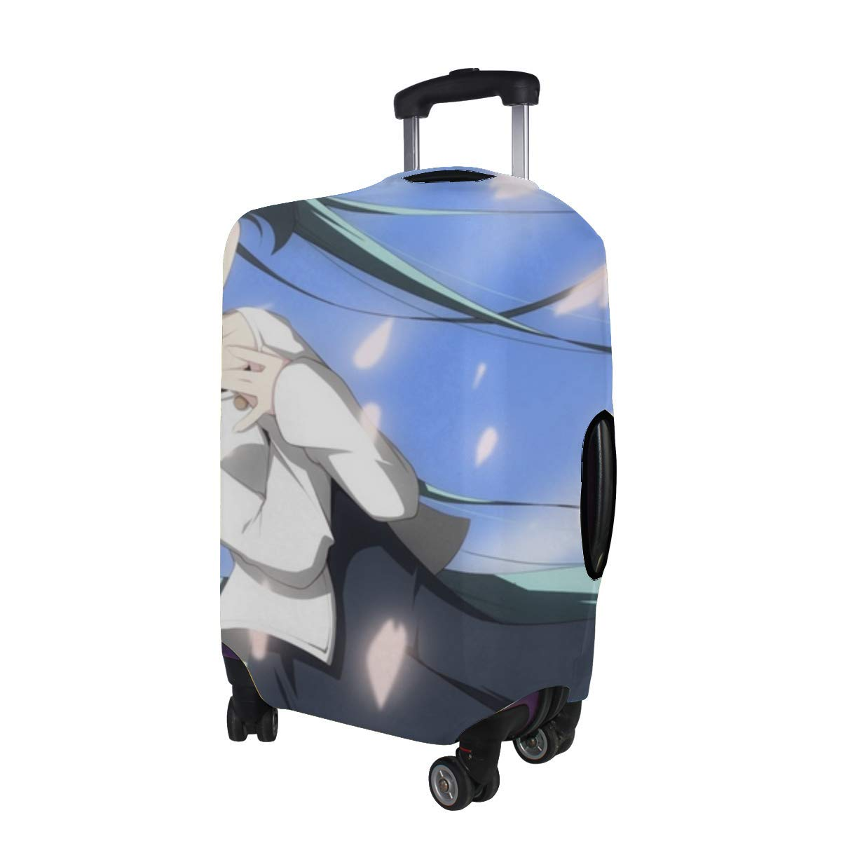 Maxm Vocaloid Hatsune Miku Girl Sky Long Hair Pattern Print Travel Luggage Protector Baggage Suitcase Cover Fits 18-21 Inch Luggage