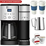 Cuisinart SS-15 12-Cup Coffee Maker and Single-Serve Brewer, Stainless w/K Cups, Carafe, To Go Cups and Extended Warranty