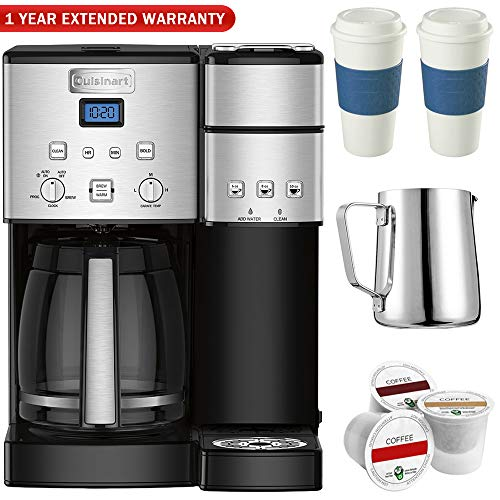 Cuisinart SS-15 12-Cup Coffee Maker and Single-Serve Brewer, Stainless w/K Cups, Carafe, To Go Cups and Extended Warranty Review
