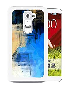 Abstract Paint Art Blue Illust (2) Durable High Quality LG G2 Phone Case