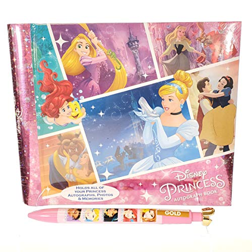 Princess Picture Album - DisneyParks Official Princess Autograph Book and Photo Book with Pen! Princess Memory Book! Disney World or Disneyland Autograph Book! Holds Photos and Autographs!