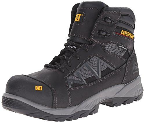 Work Compressor Boots (Caterpillar Men's Compressor 6 Inch Waterproof Comp Toe Work Boot, Black, 9 M US)