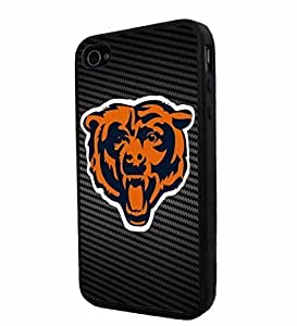 American Football NFL Chicago Bear , Cool iPhone 4 / 4s Smartphone iphone Case Cover Collector iphone TPU Rubber Case Black