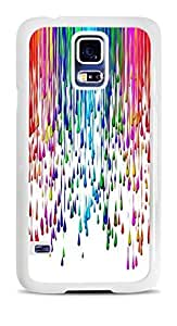 Paint Splat Rainbow colorful White Hardshell Case for Samsung Galaxy S5