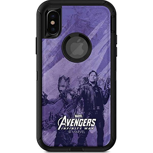 Guardians Of The Galaxy Otterbox Defender Iphone X Skin   Guardians Of The Galaxy Chroma   Marvel   Skinit Skin