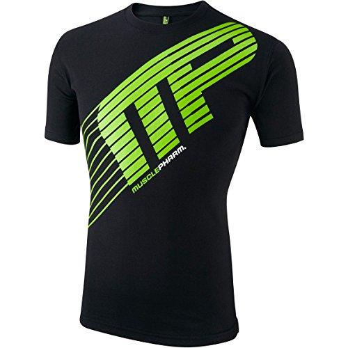 Muscle Pharm MusclePharm Men's Short Sleeve Printed T Shirt - US M - Black - Sportline