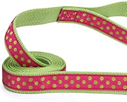 Polka Dot Dog Leads Bright Colorful Fashion Pattern Leash  Choose Color /& Length