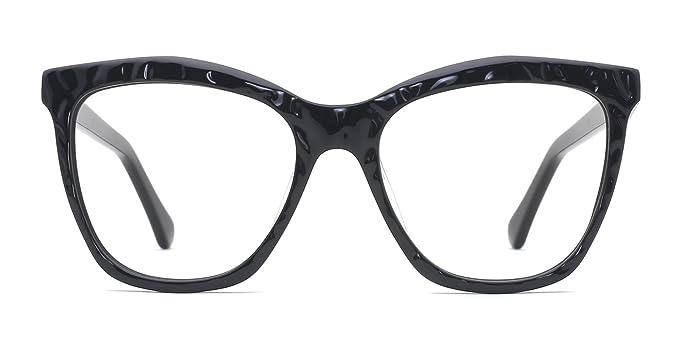 2740567941 Amazon.com  TIJN Oversize Translucent Acetate Non-prescription Cat Eye  Eyeglasses  Clothing