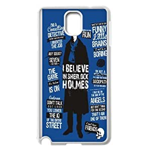 Sherlock Holmes Blue - Black Silicone Case ,TPU Phone case for SamSung Galaxy Note3,white