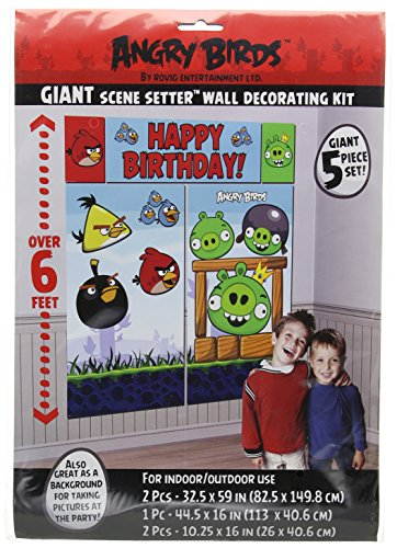 Amscan Angry Birds Scene Setter Wall Decorating