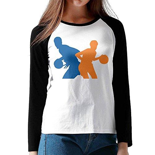 Osmantus Womens Basketball Player Couple Long Sleeve Raglan Tshirt Tee Xxl