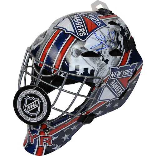 Henrik Lundqvist Mask - HENRIK LUNDQVIST Autographed Rangers Full Size Mask (Helmet) STEINER