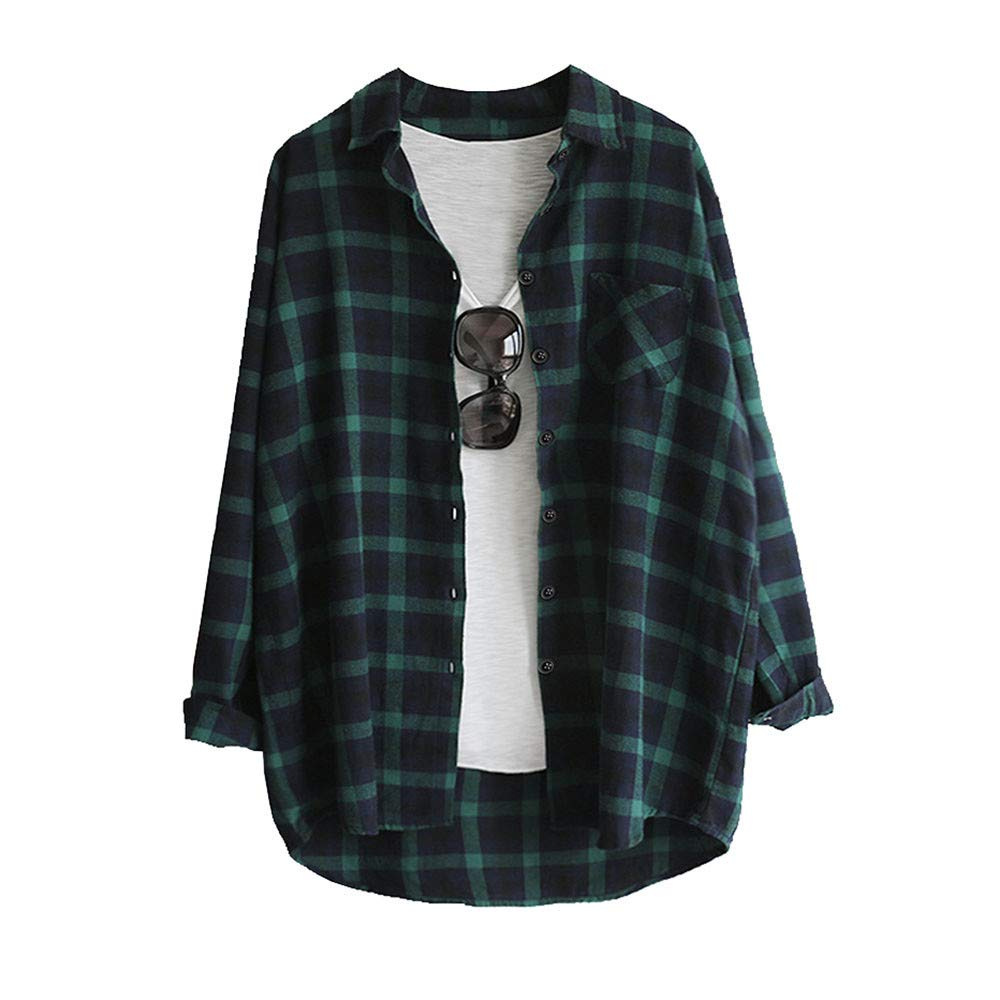 823151dd17b95 Women s Long Sleeve Plaid with Buttons T-Shirt Blouse Tops Ladies Tops  White top White Blouse Off The Shoulder Tops Blouse Bardot top Plus Size   ...