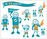 NFL Miami Dolphins Large Family Decal Set