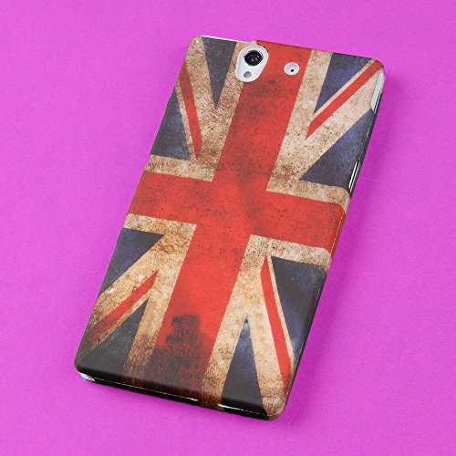 - Lot Back Skin Case TPU Hard Cover Protector for Sony Xperia Z L36h C6603(Confederate Flag The Union Jack Retro American)