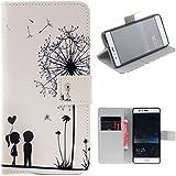 Huawei P10 Lite Cover , ivencase Happy Warm Portafoglio Magnetico Flip Stand PU Ecopelle Protettivo Silicone Custodia per Huawei P10 Lite 5.2 Pollice