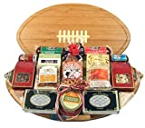 Meat and Cheese Gift Assortment on a Football Cutting Board | Size Large