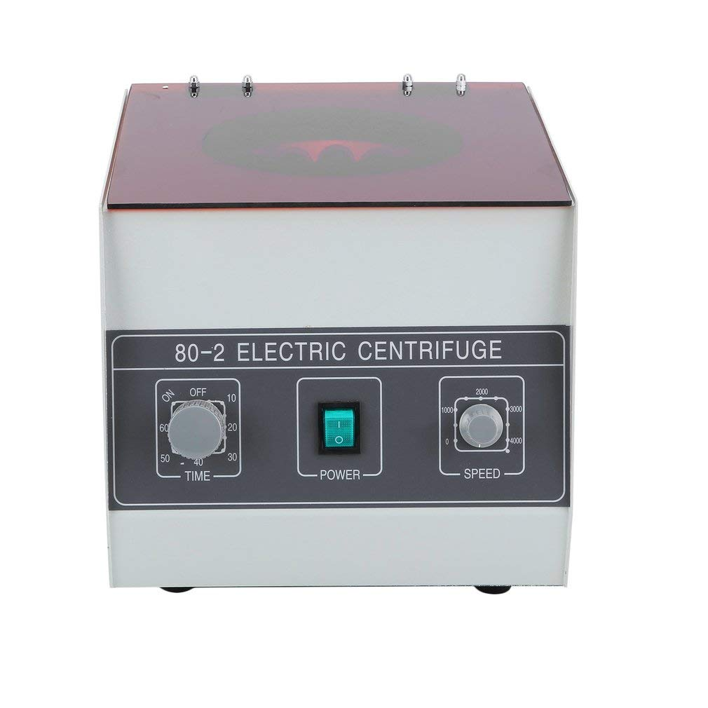 Benchtop Centrifuges, Blackpoolfa 80-2 110v Electric Centrifuge Machine with Timer Speed Control for Lab Laboratory Medical Practice -4000 RPM - Capacity 12x20ml (Grey)
