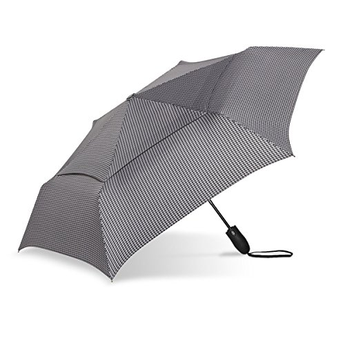 ShedRain Black Metro Houndstooth Windjammer Vented Auto Open   Close  Umbrella 1f93734ca9136