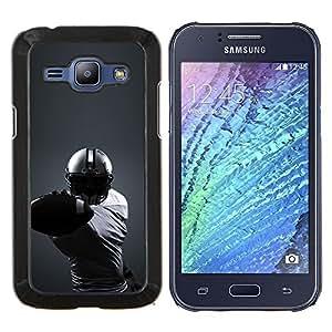 Caucho caso de Shell duro de la cubierta de accesorios de protección BY RAYDREAMMM - Samsung Galaxy J1 J100 - Minimalista fútbol