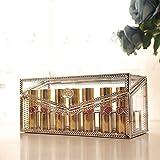 ROOYF Transparent Glass Jewelry Box Lipstick Cosmetics Lipstick Box Coppery