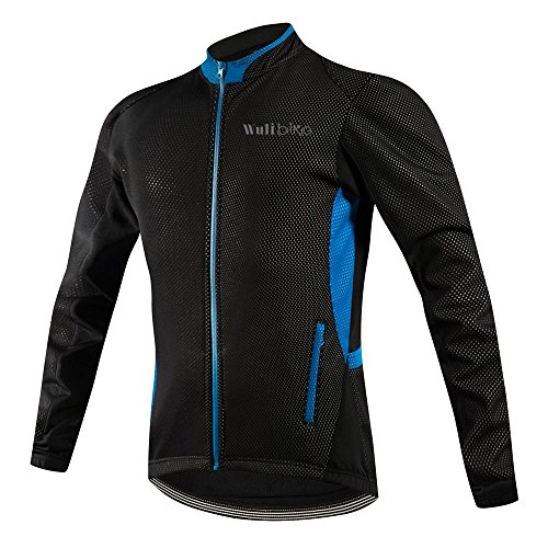 logas Men's Thermal Cycling Jackets Breathable Bicycle Jersey Windproof...