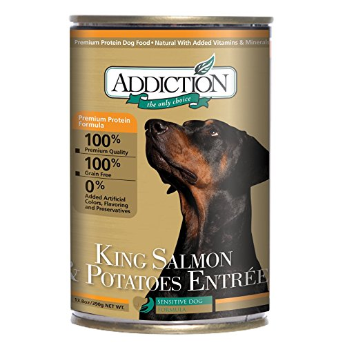 Addiction King Salmon & Potatoes Entrée Grain Free Canned Dog Food, 13.8 oz. (12-pack)