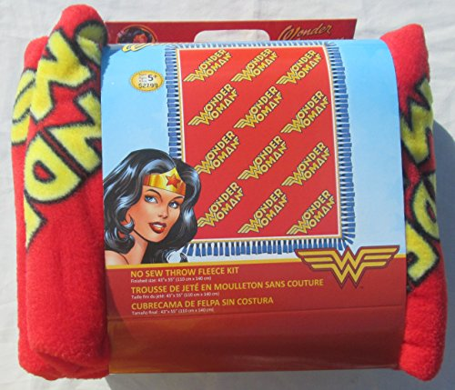 Wonder Woman No Sew Fleece Throw Kit - DC Comics by Wonder Woman