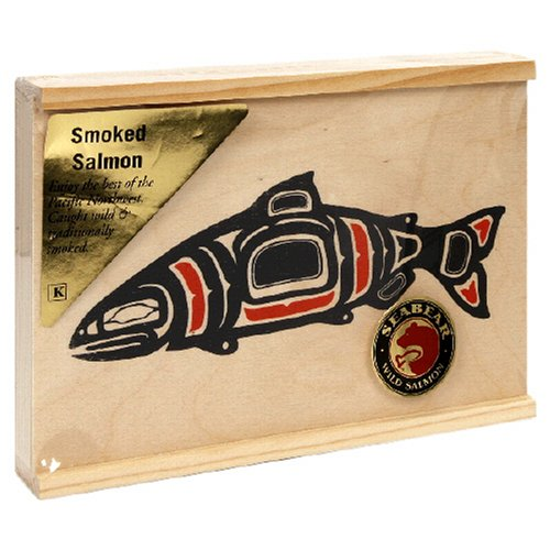 (SeaBear Wood Box with Smoked Salmon, 4-Ounce Units   (Pack of 2))