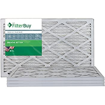 afb platinum merv 13 14x24x1 pleated ac furnace air filter. pack of ...