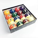 JAPER BEES Premium Standard Billiard Ball/Pool Ball Set,Complete 16balls, 2 1/4 inch Regulation Size&5.9OZ Weight, Resin Ball