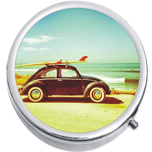 Surf Bug (VW Bug Surf Beach Medicine Vitamin Compact Pill Box)