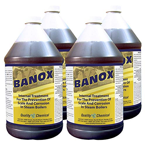 (Banox Boiler Treatment - A non-phosphate, non-chromate corrosion and scale inhibitor for use in boiler water.-4 gallon case)