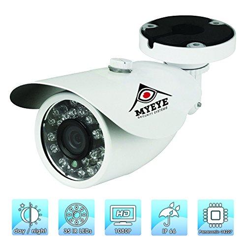 Panasonic 1/3 CMOS Sensor AHD CCTV Home Surveillance Weatherproof Security Camera. Bullet Surveillance Camera,MTV3.6mm,Day/Night Vision Weatherproof Outdoor 2.0 Megapixel 1080p HD IR IP 66