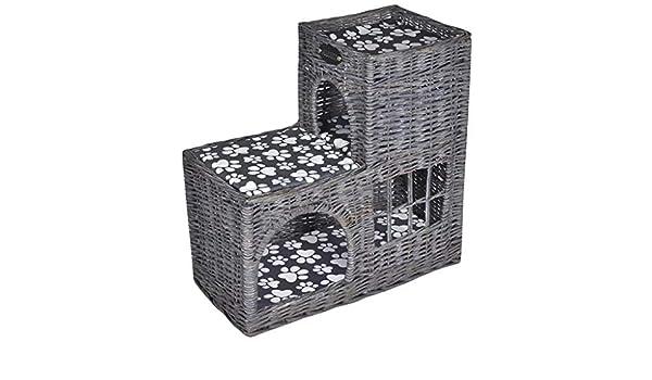 Xingshuoonline Casita/Cama/Rascador de Mimbre para Gato (Forma de Castillo),Cama Rascador para Gatos: Amazon.es: Productos para mascotas
